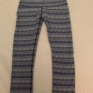 Lululemon High Times Pant in blue cyber stripe
